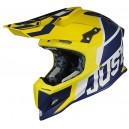 Just1 J12 carbon hjelm Gul Blå
